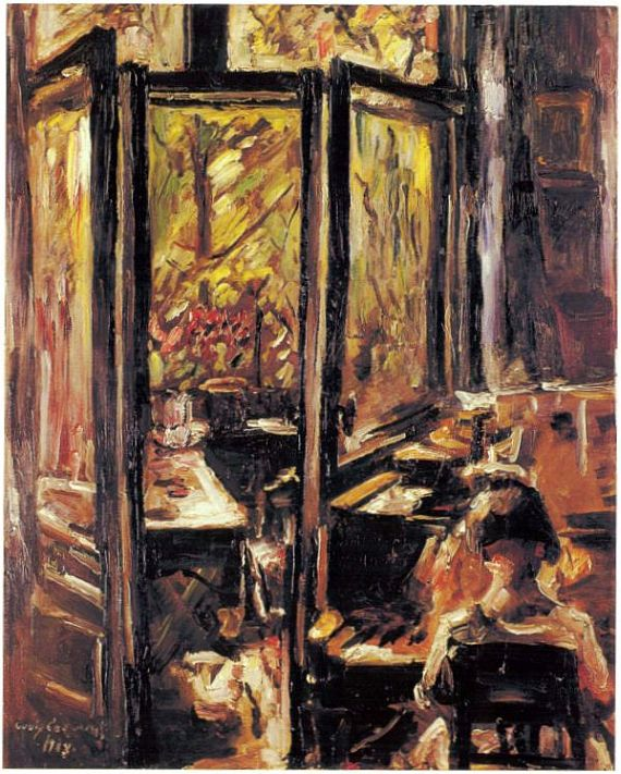 Lovis Corinth - WILHELMINE AM FLUEGEL