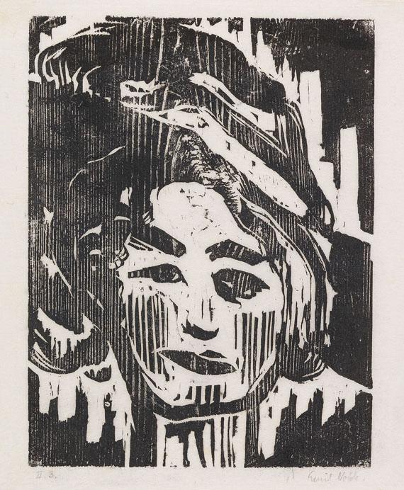 Emil Nolde, Junges Mädchen II