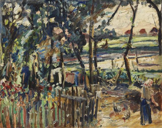 Franz Frank, Garten
