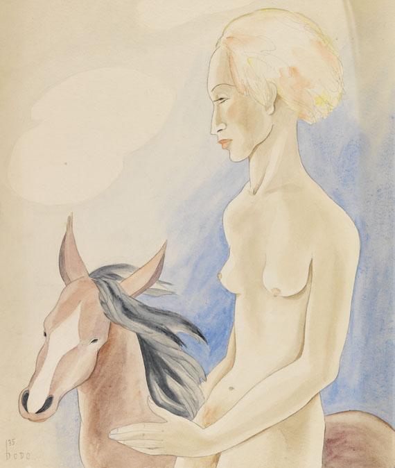 Dodo (d. i. Dörte Clara Wolff), Träumende auf Pferd