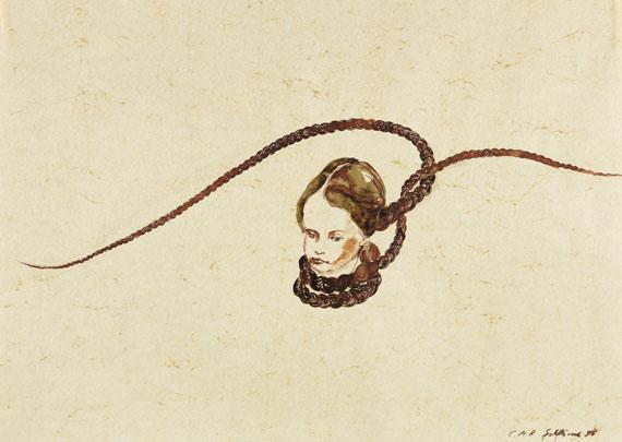 Cornelia Schleime, Rituale (Zopfbilder), 6-teilig