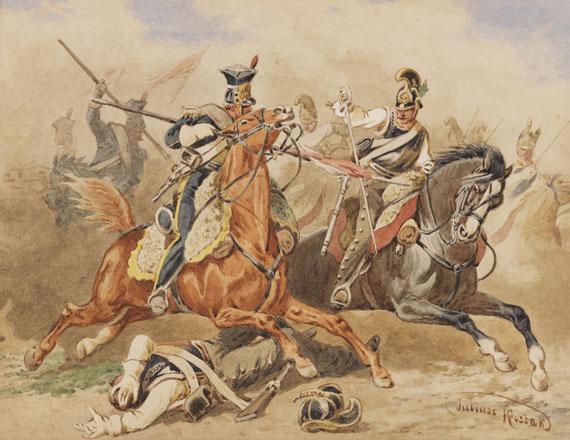 Juliusz Kossak, Schlachtenszene während des Novemberaufstandes