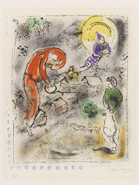 Chagall, Marc, Die Dächer
