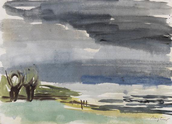 Eduard Bargheer, Elbe mit Weiden
