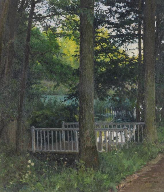 Friedrich Ahlers-Hestermann, Waldsee mit Brücke