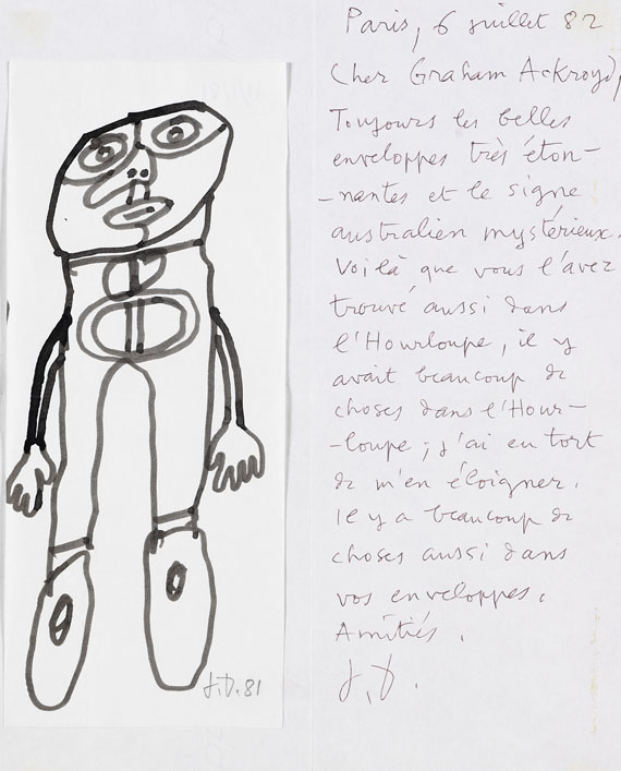 Jean Dubuffet - Personnage debout