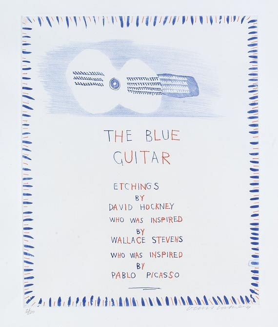 David Hockney - The blue Guitar - Weitere Abbildung