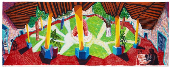 David Hockney - Hotel Acatlan two weeks later