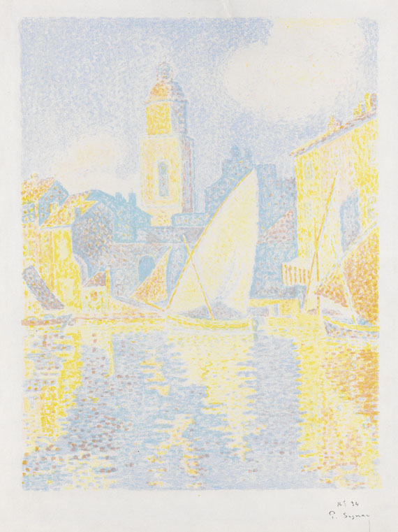 Paul Signac - Saint Tropez: Le Port