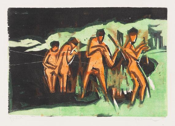 Vier Badende Kunstkarte Ernst Ludwig Kirchner