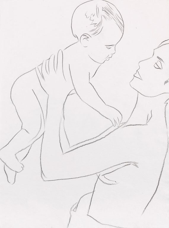 Andy Warhol - Mother and Child
