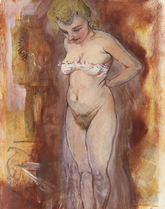 George Grosz - Woman Undressing