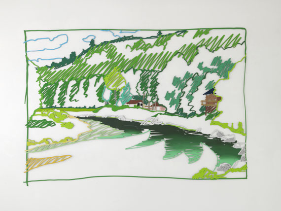 Tom Wesselmann - Cochecton Pool, Delaware River (from Lynda's) - Weitere Abbildung