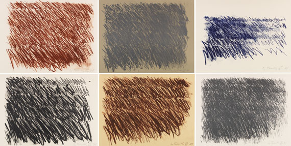 Cy Twombly - Untitled (6 Blätter)