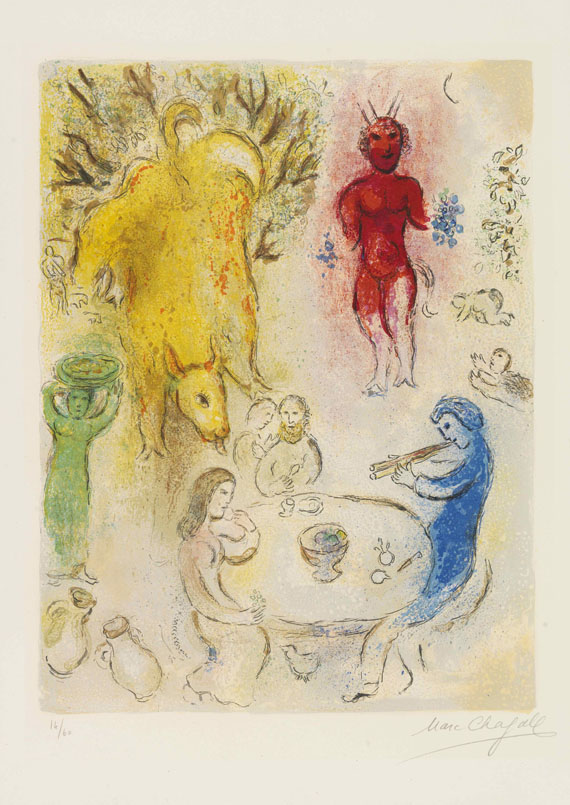 Marc Chagall - Festmahl mit Pan