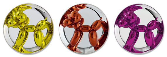Jeff Koons - Balloon Dogs. Balloon Dog (Yellow). Balloon Dog (Orange). Balloon Dog (Magenta)