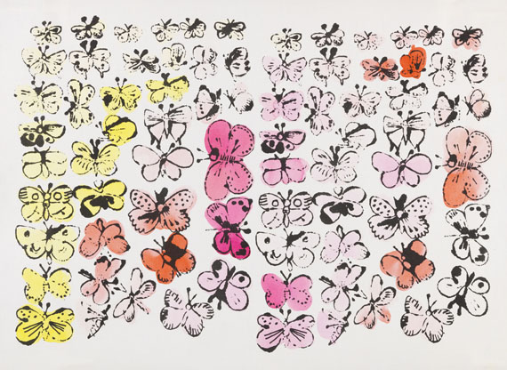 Andy Warhol - Happy Butterflies / Large