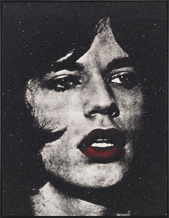 Russell Young - Mick Jagger + red lips / Reggie Kray, Do You Know My Name - Rahmenbild