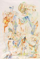 Schultze, Bernard - Colored crayon drawing