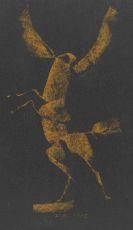Koenig, Fritz - Kreidezeichnung