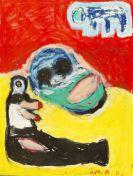 Bachmayer, Hans Matthäus - Oil crayon