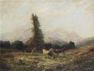 Otto Pippel - Rinderherde vor Wettersteingebirge