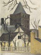 Curt Ehrhardt - Ein alter Winkel am Wehrturm einer alten Stadt