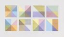Sol LeWitt - Eight Squares with a Different Color in Each Half Square (Divided Vertically and Horizontally) Composite