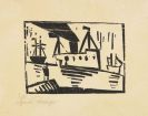 Lyonel Feininger - Schiffe (mit Mann auf einer Mole)