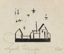 Lyonel Feininger - Gebäude mit Fünf Sternen