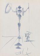 Dalí, Salvador - Kugelschreiberzeichnung