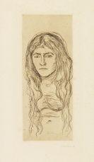 Edvard Munch - Weib mit langem Haar
