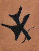 Georges Braque - Oiseau vert sur fond brun