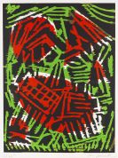 Penck (d.i. Ralf Winkler), A. R. - Woodcut in colors
