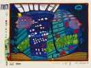 Hundertwasser, Friedensreich - Silkscreen in colors