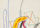 Antes, Horst - Oil crayon