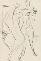 Kirchner, Ernst Ludwig - Chalk drawing