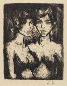 Otto Mueller - Zwei Mädchen - Halbakte (Russisches Mädchenpaar)