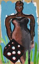 Bach, Elvira - Acrylic on cardboard
