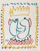 Pablo Picasso - Tete de roi - Poster für Nice Carnival