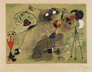 Joan Miró - Composition sur fond vert
