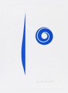 Anton Stankowski - Abstrakt Blau (Spirale blau)