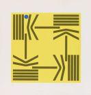 Anton Stankowski - Komposition mit blauem Punkt