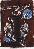 Koberling, Bernd - Oil on paper