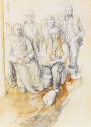 Bak, Samuel - Chalk drawing