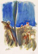 Friedrich Karl Gotsch - Landschaft mit blauem Himmel