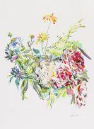 Oskar Kokoschka - Sommerblumen mit Rosen