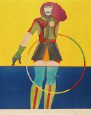 Richard Lindner - Girl with Hoop (aus der Serie Fun City)