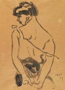 Pechstein, Hermann Max - Brush and India ink drawing