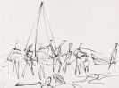 Nay, Ernst Wilhelm - Reed pen drawing